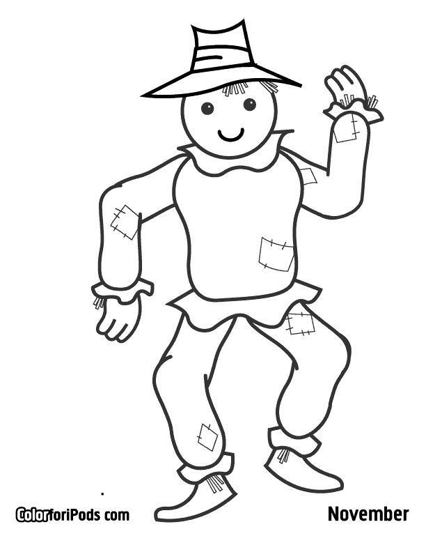 Scarecrow Template Colouring Pages Page 3 Coloring Home