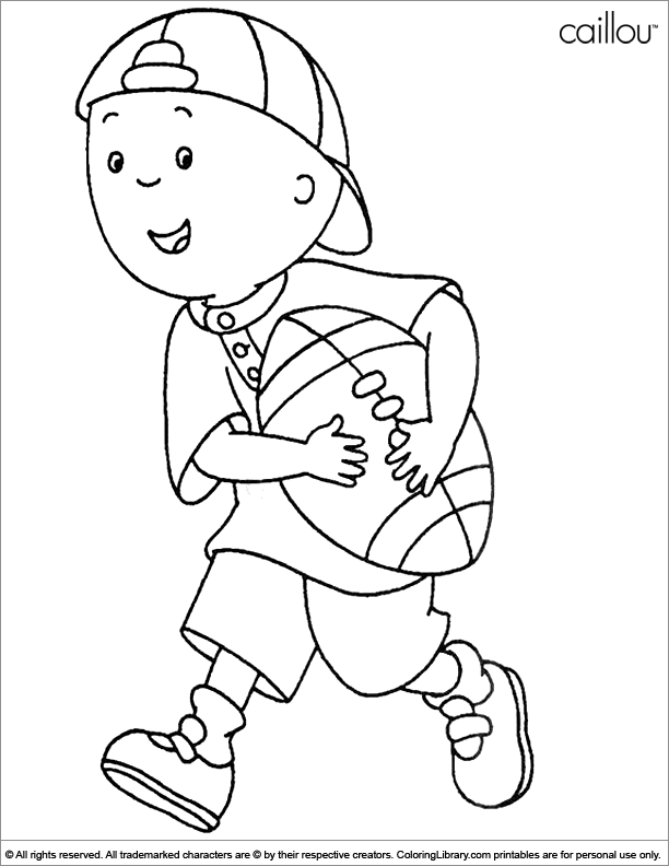 Caillou Coloring Pages Pdf : Caillou coloring pages in the library home