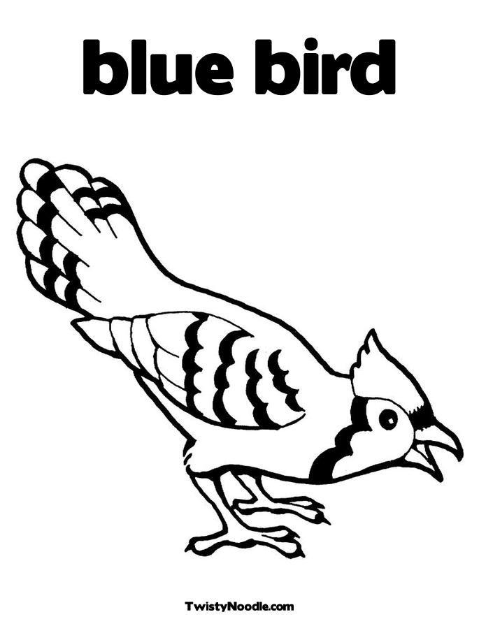 blue bird Coloring Page for kids | coloring pages