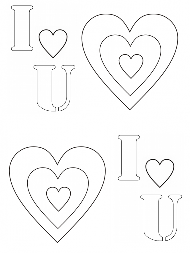 I Love You Coloring Pages Pdf : Gaara coloi heart u colouring pages i love you printable