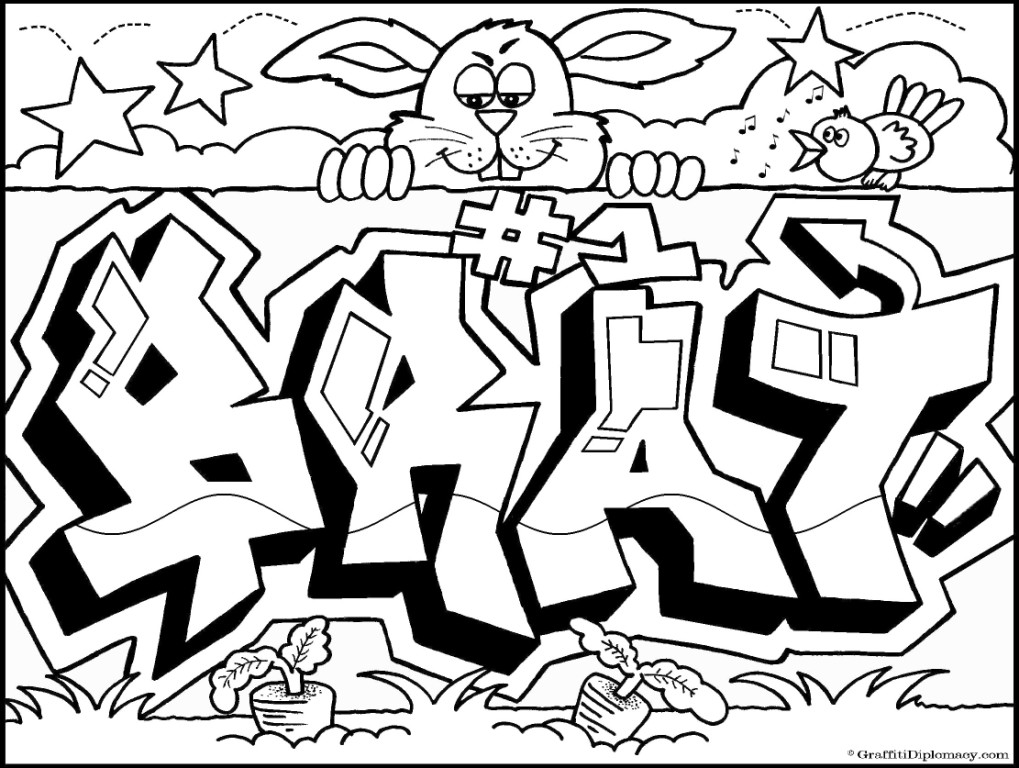 "Graffiti Coloring Book ""Because Y's A Crooked Letter"" by Graffiti"