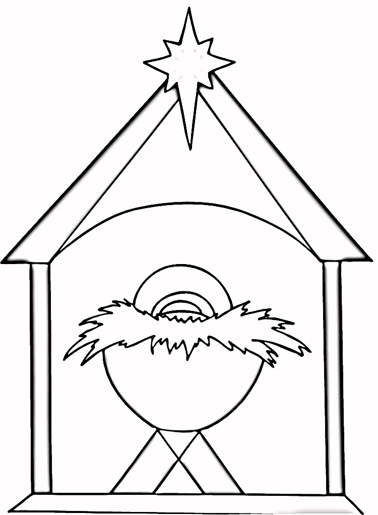 christmas coloring pages baby jesus - photo#8