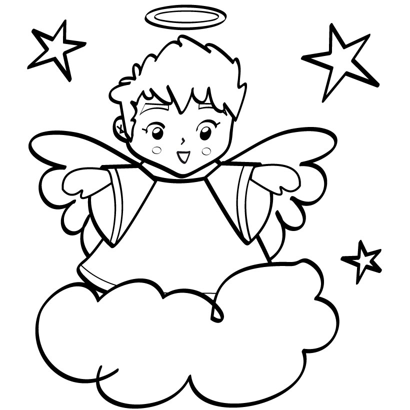free angel wings coloring pages - photo#32
