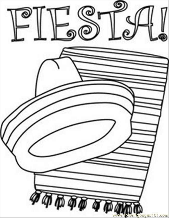 Mexican Fiesta Coloring Pages Coloring Home Mexico Printable Coloring Pages