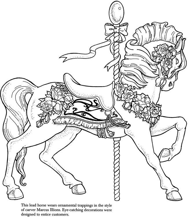 Carousel Animals Coloring Pages - Coloring Home
