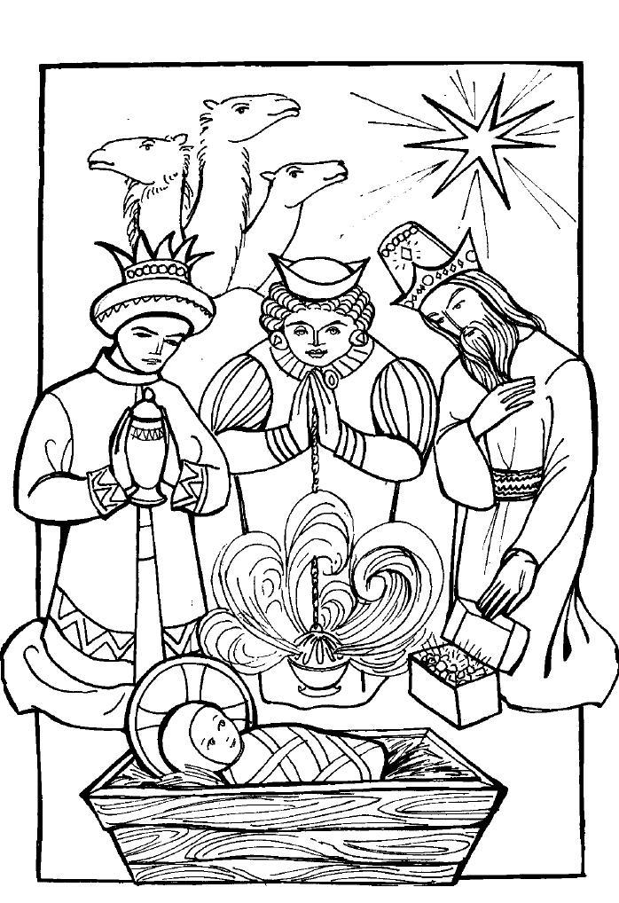 Three wise men coloring page coloring home for Wisemen coloring pages