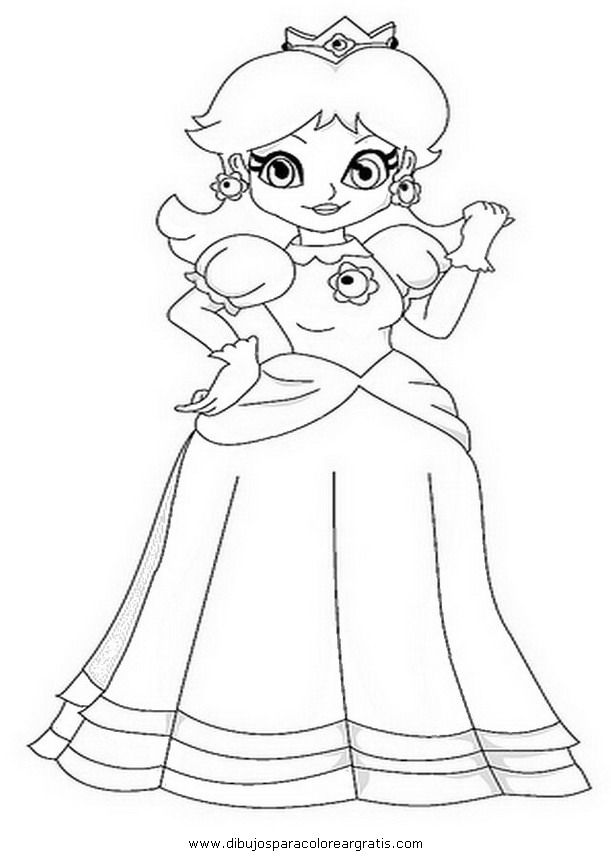 peach and daisy coloring pages - photo#19