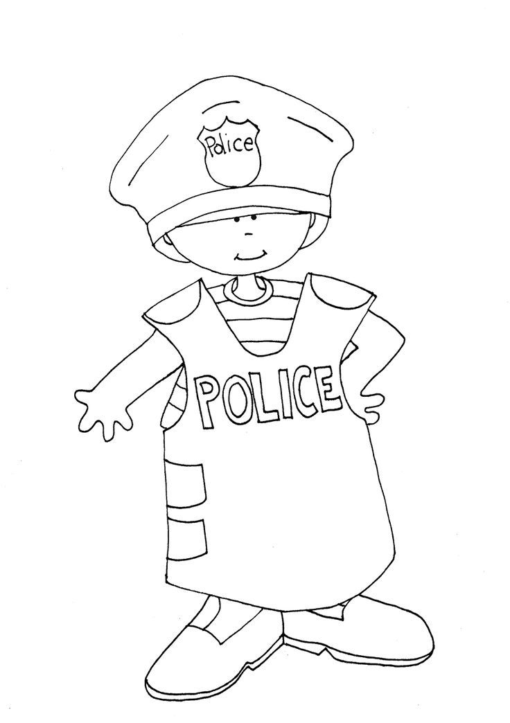 Policeman Coloring Pages Policeman Colouring Pages