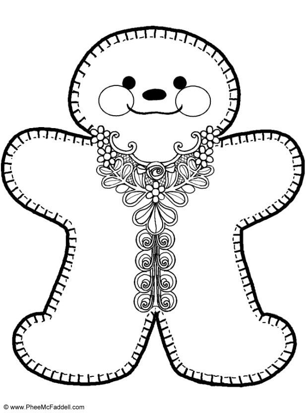 Coloring Pages Gingerbread Man : Gingerbread man coloring page home