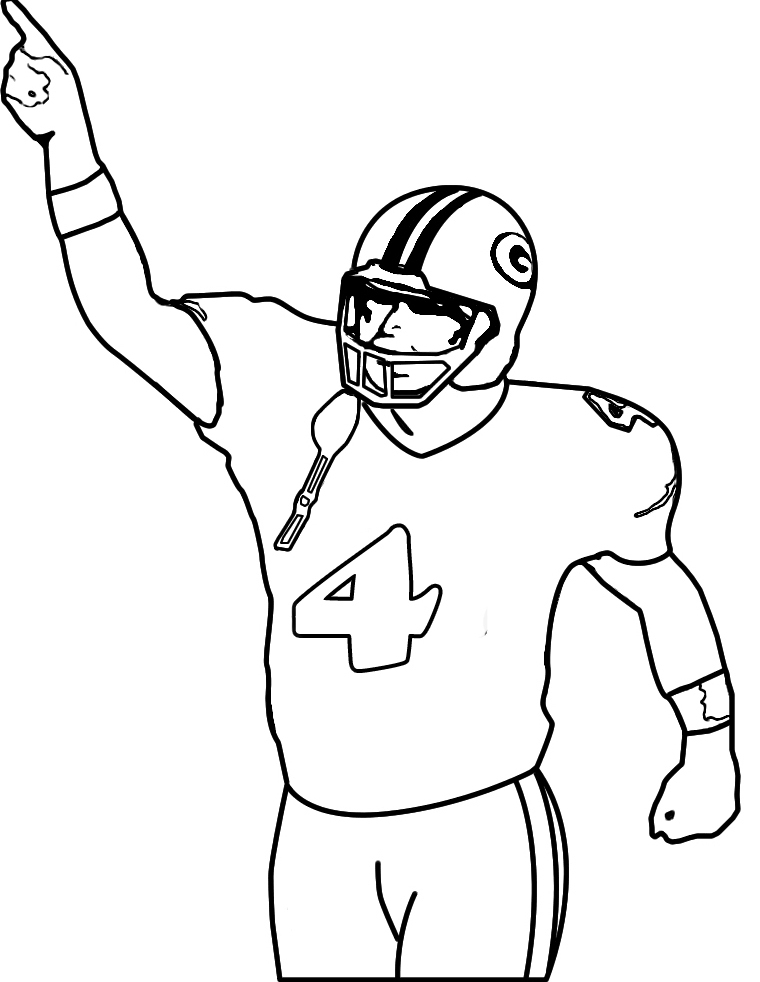 Football : Star Playing Football NFL Coloring For Kids, Printable