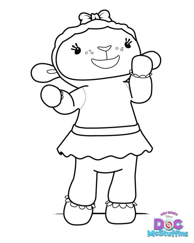 Doc mcstuffins lambie coloring pages az coloring pages for Doc mcstuffins coloring pages to print