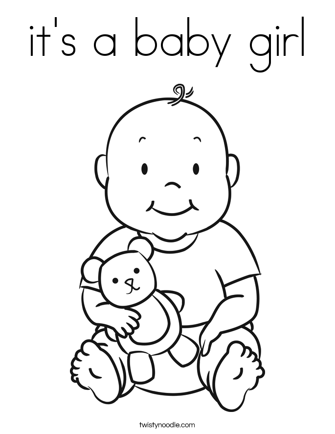 Baby girl coloring pages kids