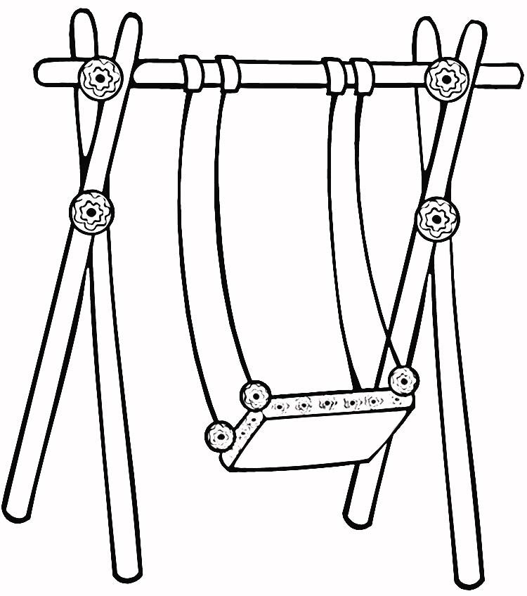 swing set coloring page - swing set coloring page coloring home