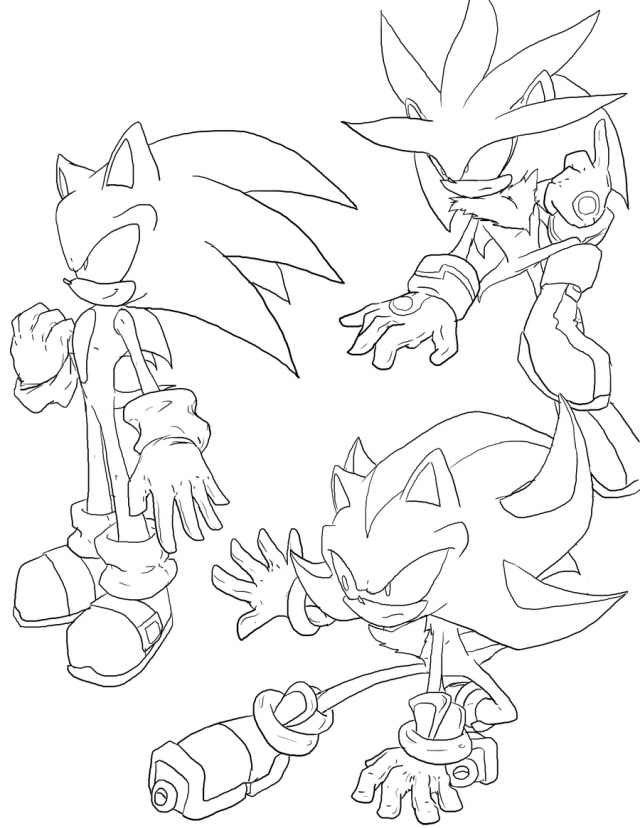 sonic coloring pages shadow - photo#29