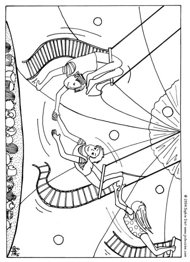 Circus Themed Coloring Pages