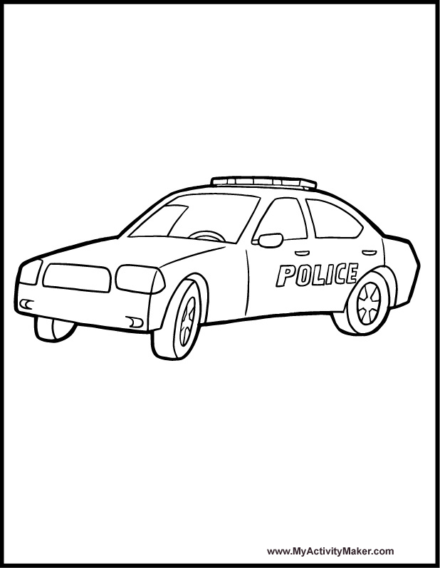 Free Coloring Pages Police Car : Police car coloring pages for kids az