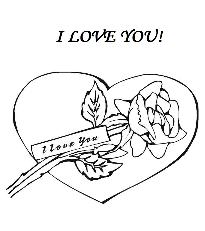 Coloring Pages Of I Love You - AZ Coloring Pages