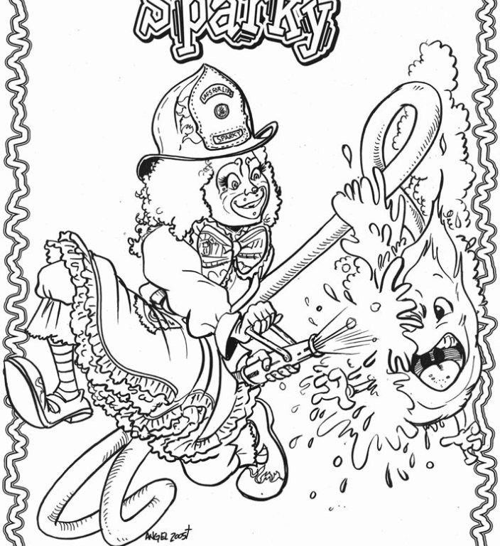 Smokey The Bear Coloring Page
