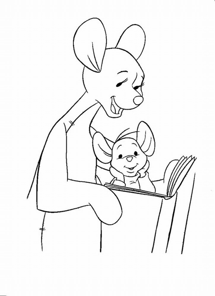 kanga and roo coloring pages - photo#46