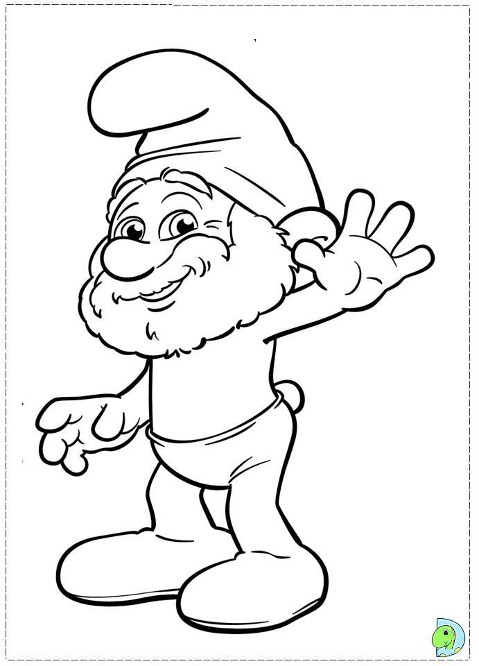 free coloring pages smurf - photo#24