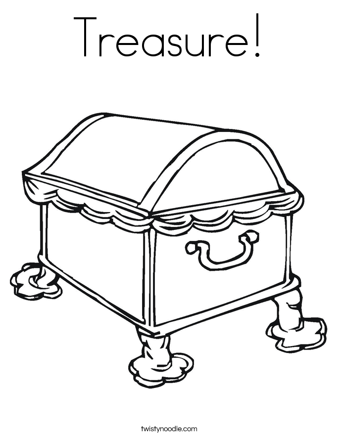 Open treasure chest coloring page az coloring pages for Treasure coloring pages