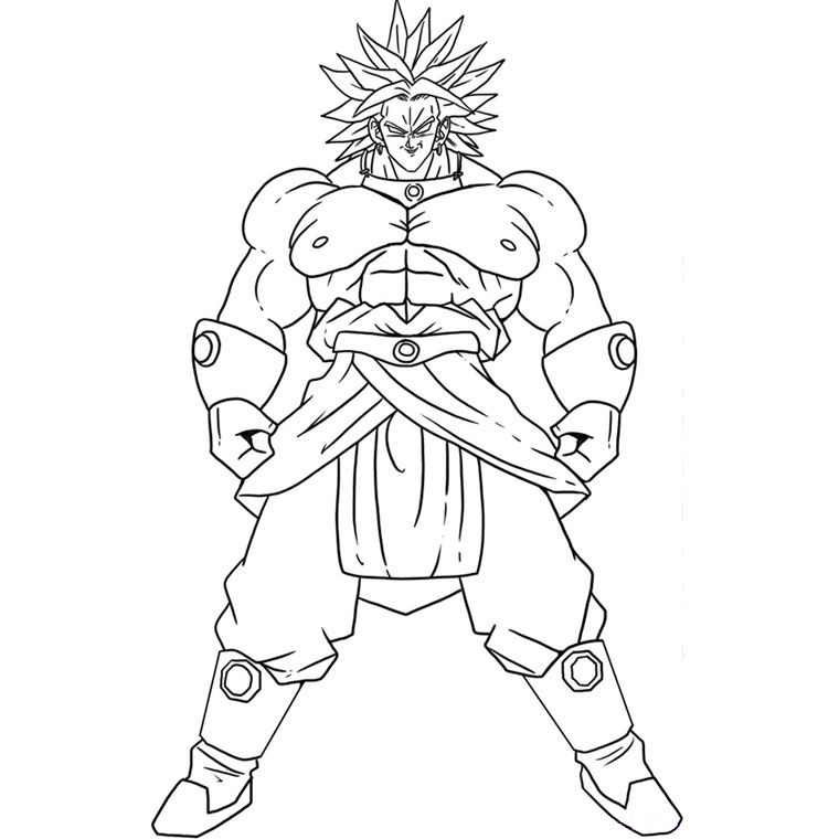 broly coloring pages - photo#13