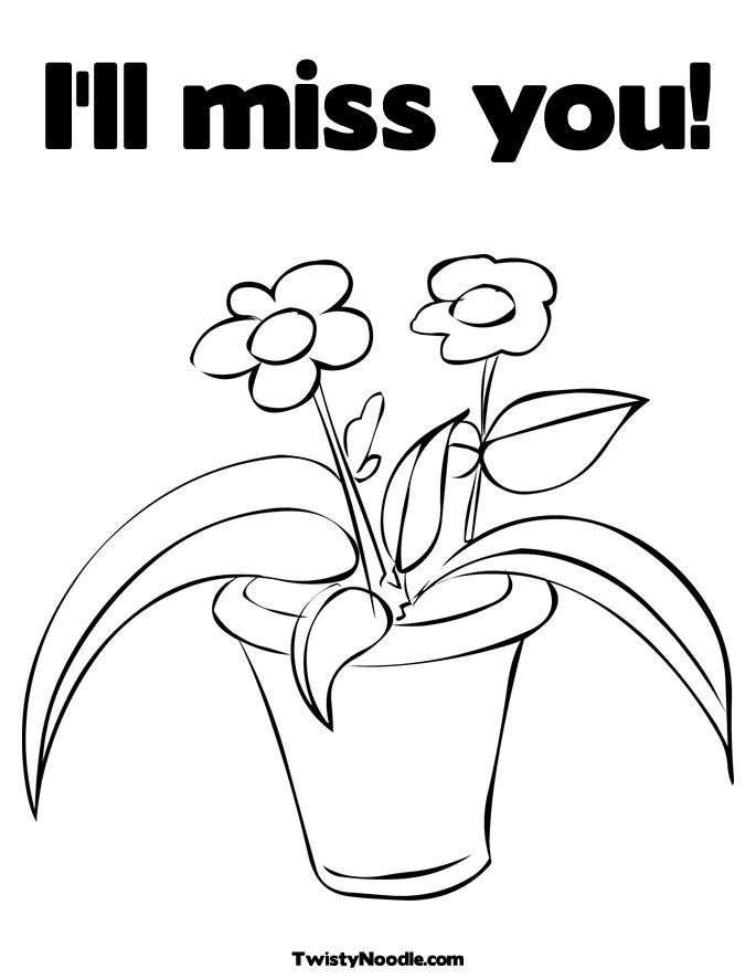 missing you Colouring Pages
