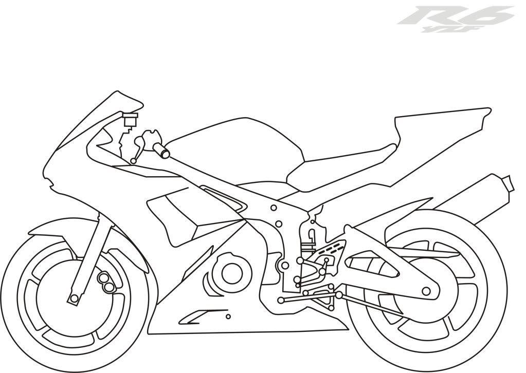dirt bike drawings outline