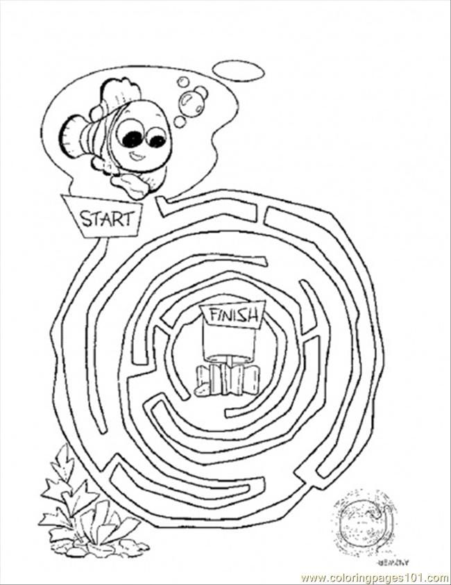 Maze Coloring Page Coloring Home