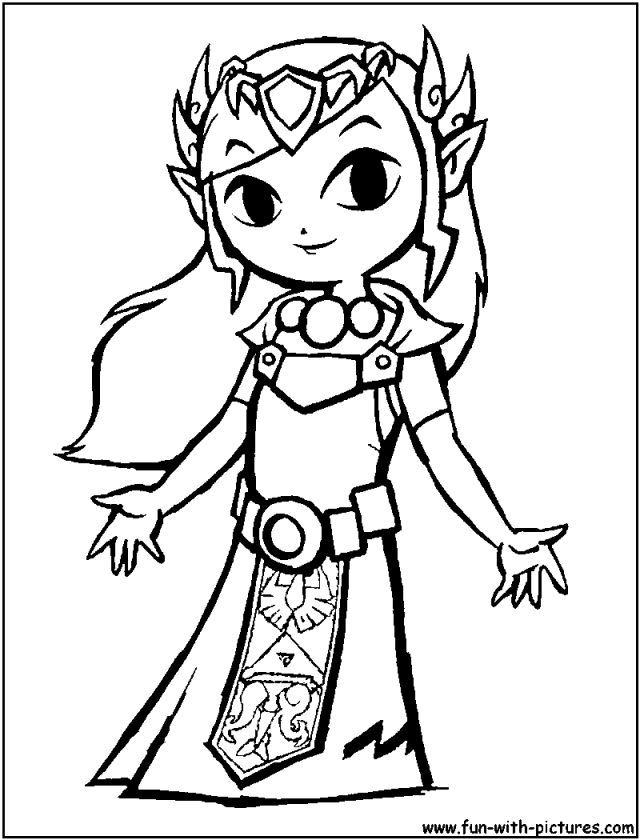 Princess Peach And Zelda Colouring Pages 233342