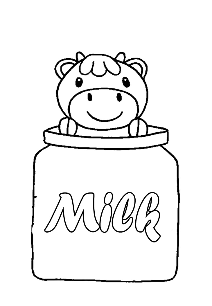 dairy cows coloring pages - photo#41