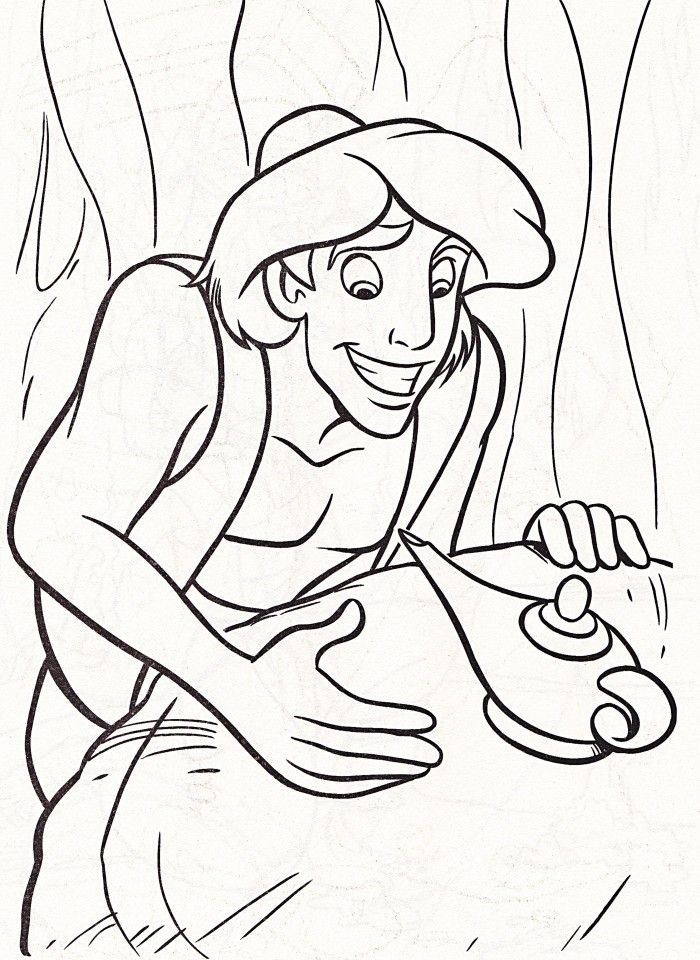 Jasmine Coloring Pages Pdf : Aladdin and magic lamp coloring pages cartoon