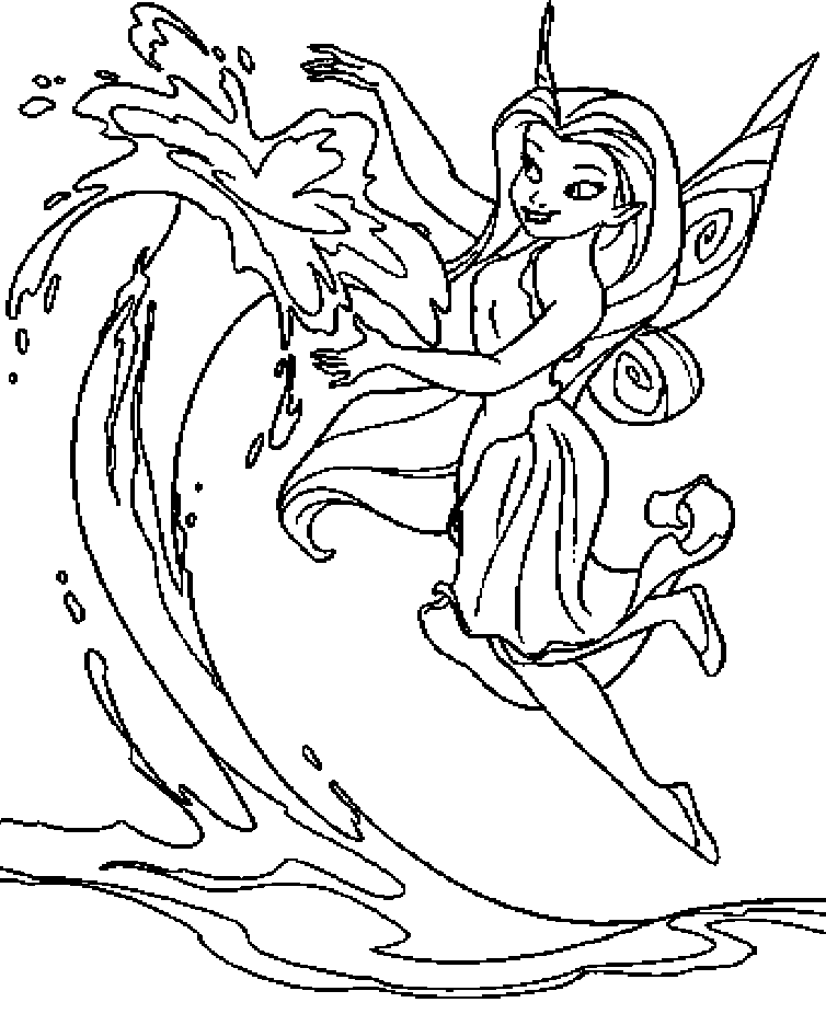 Disney Fairy Rosetta Coloring Page | disney-fairies | Tinkerbell ... | 926x754