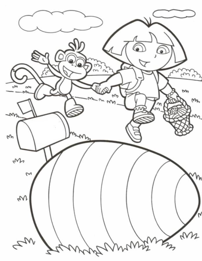 dora easter coloring pages - photo#6