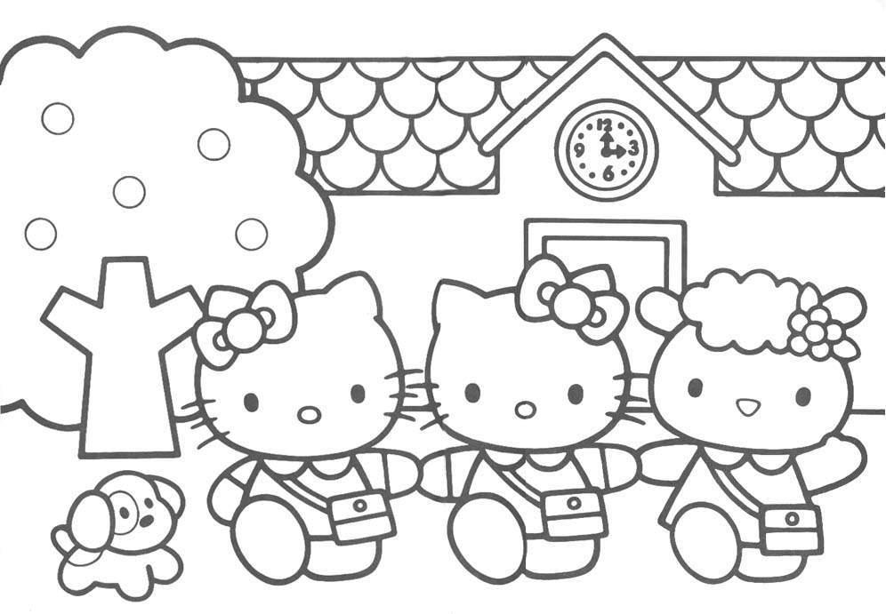 Hello Kitty Coloring Page Printouts