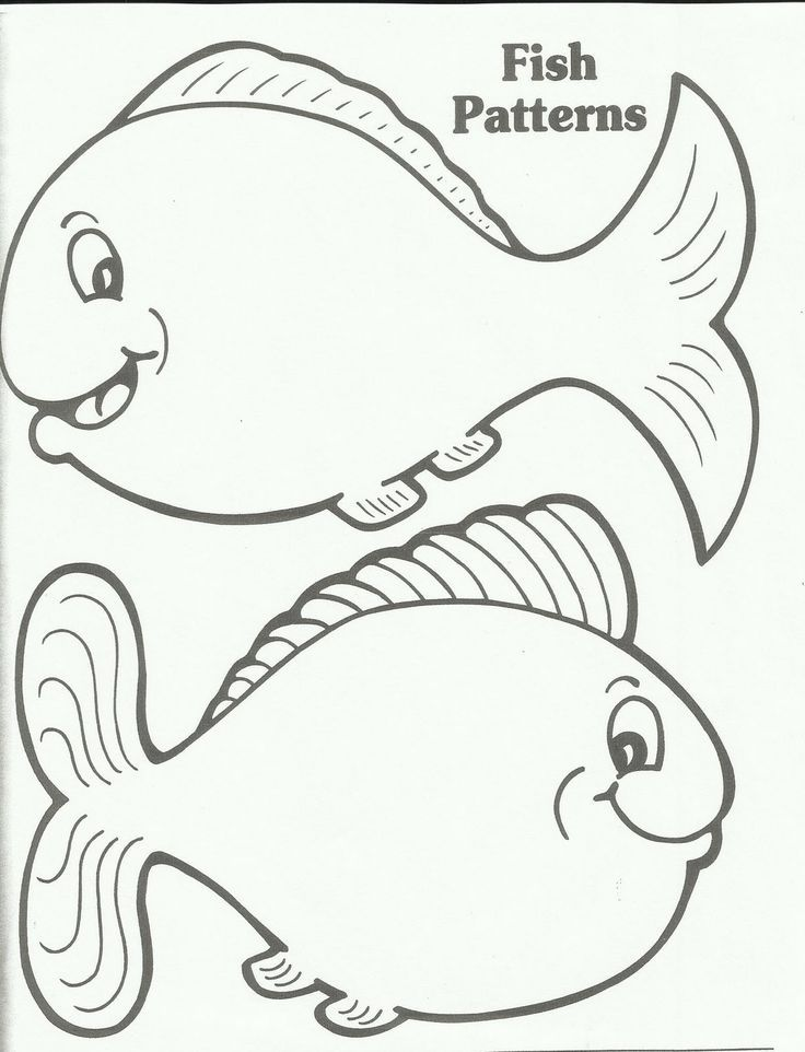 Rainbow fish template az coloring pages for Fish coloring pages for preschool