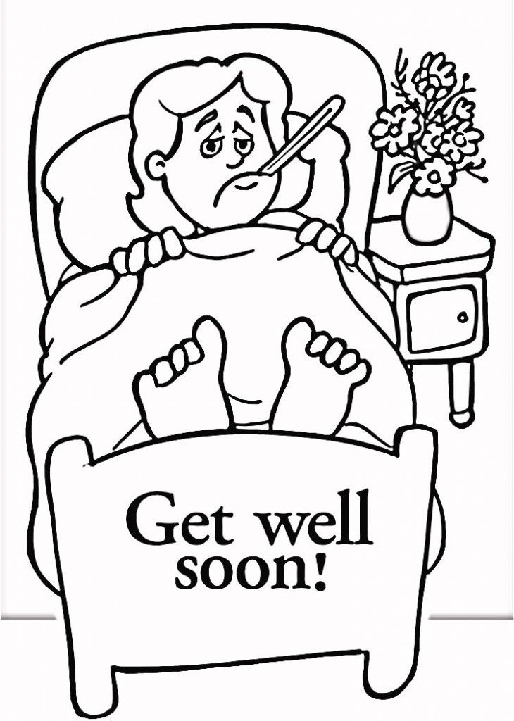 get well cards coloring pages - photo#2