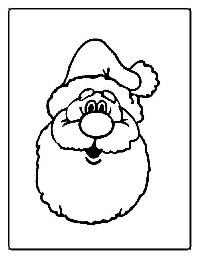 Santa Face Template - AZ Coloring Pages