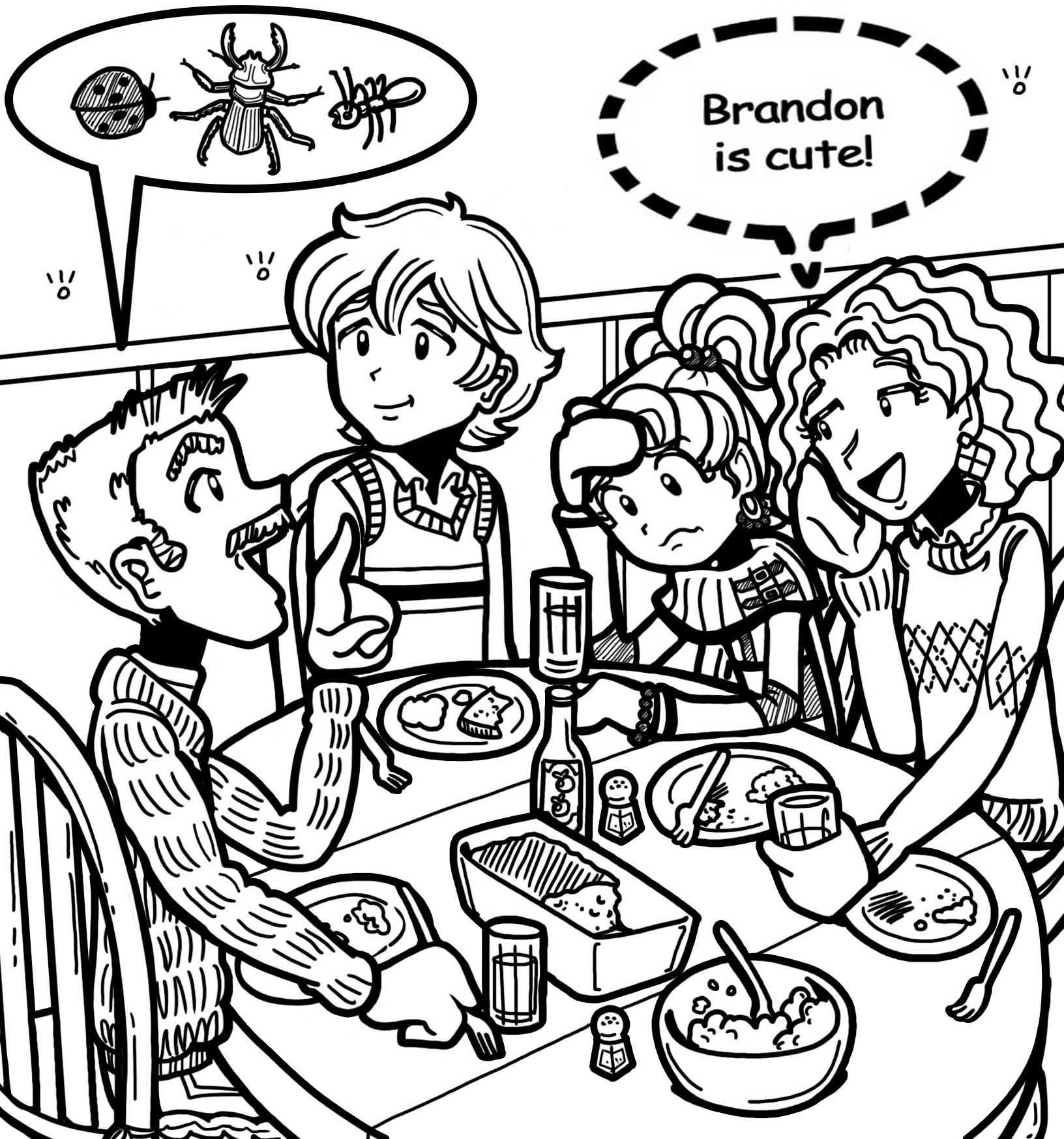 dork diaries 8 coloring pages - photo#20