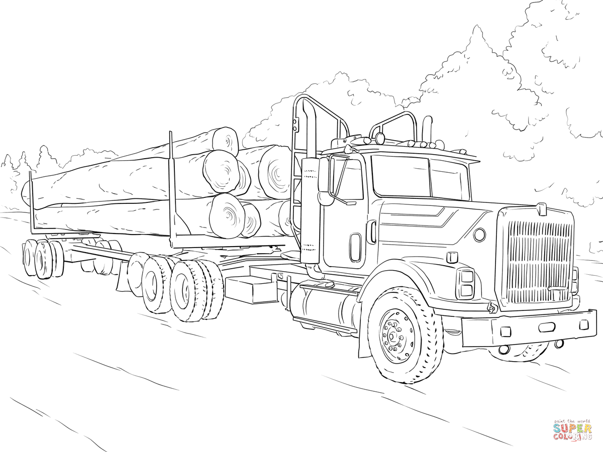 Log Truck Coloring Page Free Printable Coloring Pages Truck Coloring Pages 6