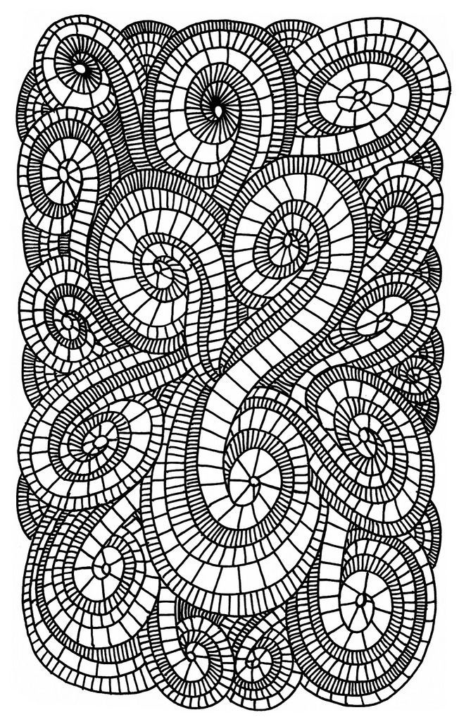 Abstract Tree Coloring Pages : Coloring pages swirls az