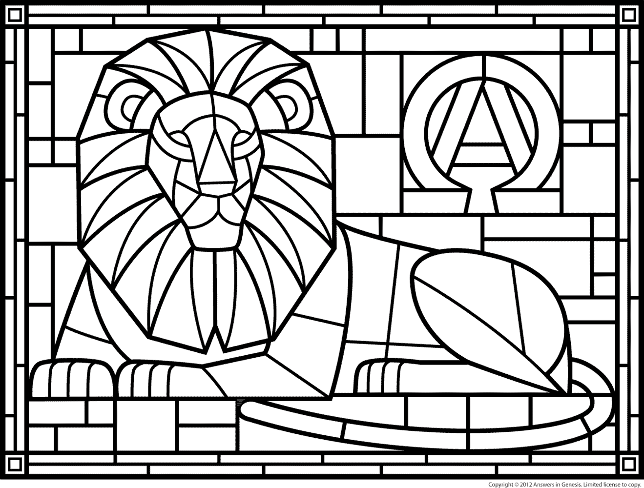 religious stained glass coloring pages - photo#11