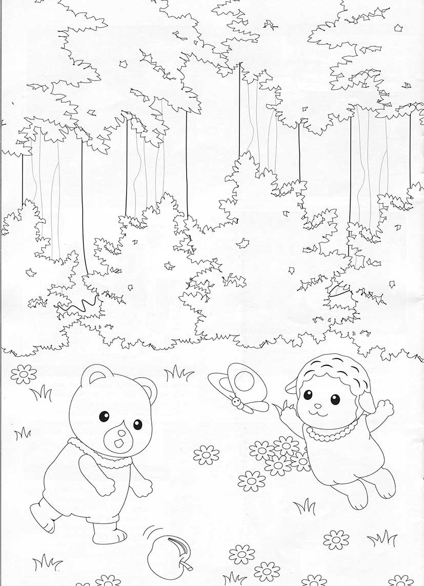 Calico critters free coloring pages coloring home for Little critter coloring pages