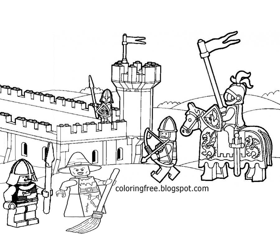 lego castle coloring pages print - photo#2