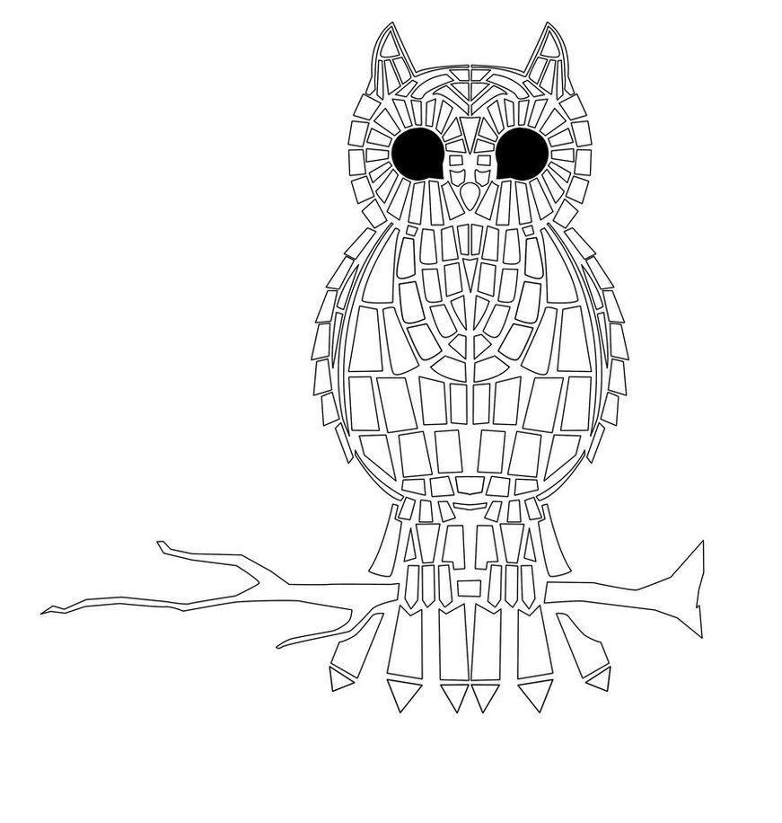 mosaic printables coloring pages - photo#35