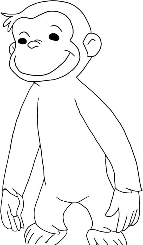 curious george halloween coloring pages coloring home