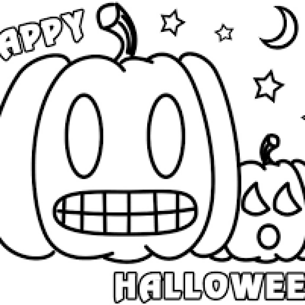 Free Printable Preschool Coloring Sheets - Halloween Coloring Pages