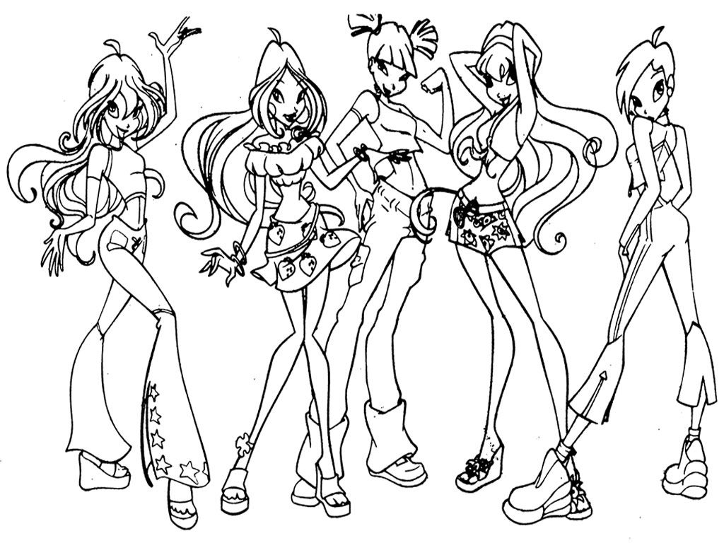 Free printable winx club coloring pages - Winx Club Coloring Pages Printable Realistic Coloring Pages