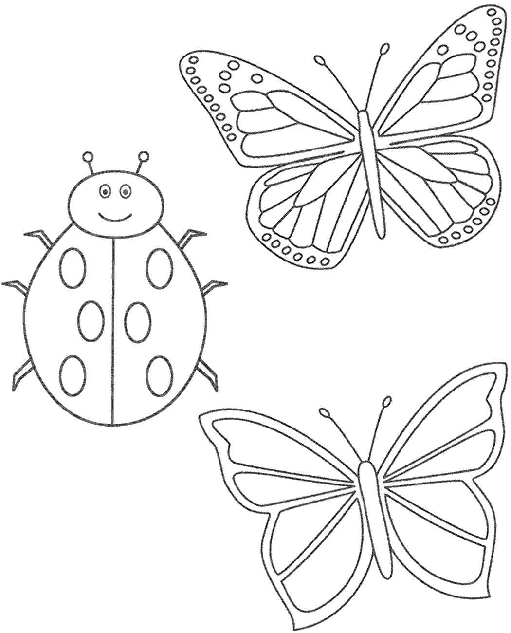 Ladybug Printable Coloring Pages Coloring Home