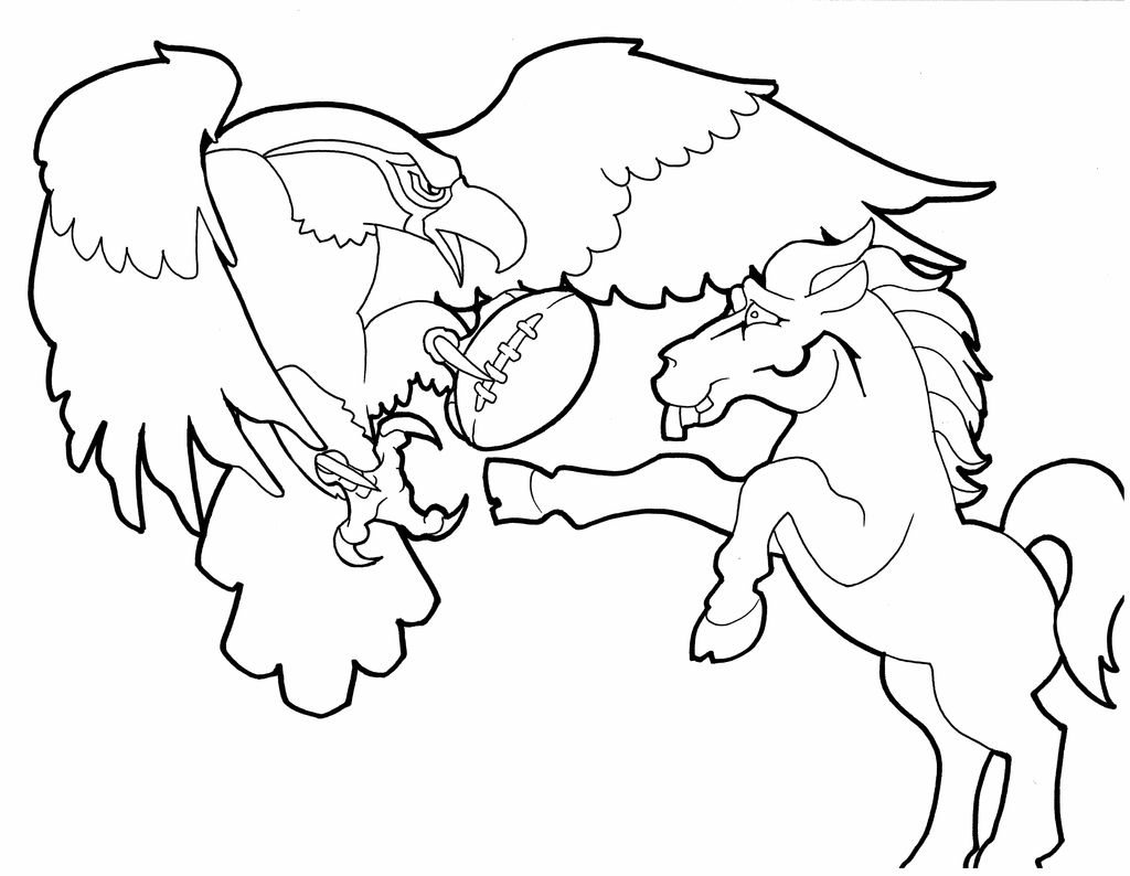 Bronco Coloring Page Page 1